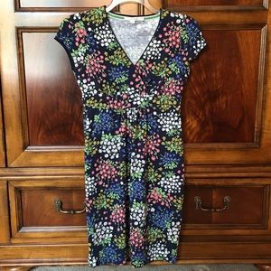 Boden navy blue print dress